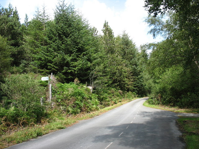 Crossing point of the path from Gellilydan
