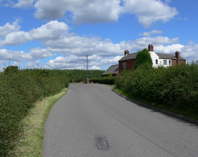 Markfield Lane north of Thornton