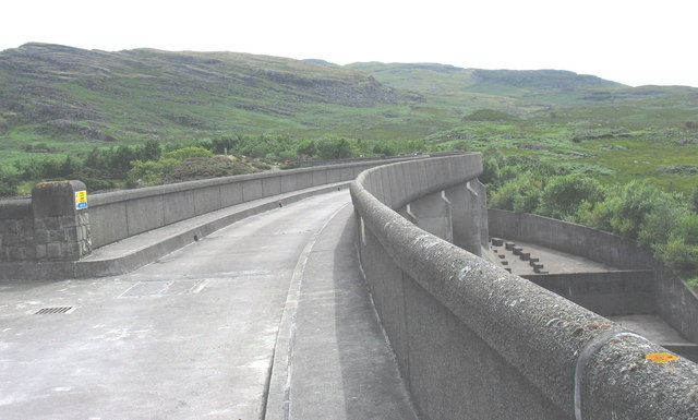 The western section of the S-shaped Maentwrog dam