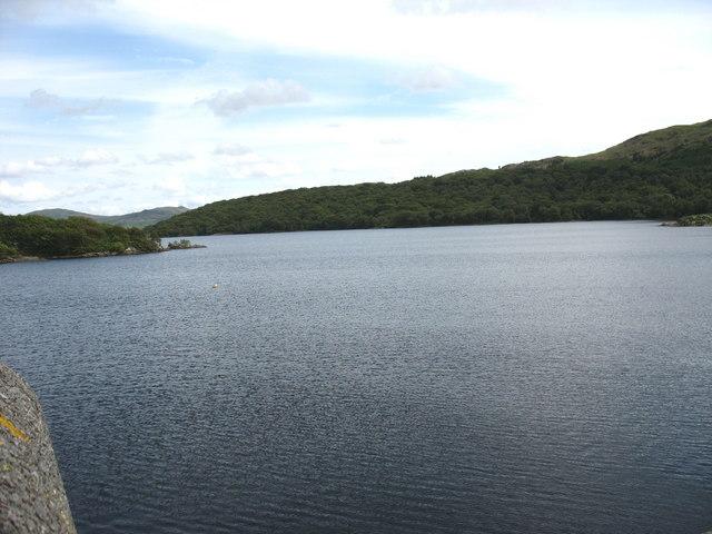 Llyn Trawsfynydd from the Maentwrog Dam