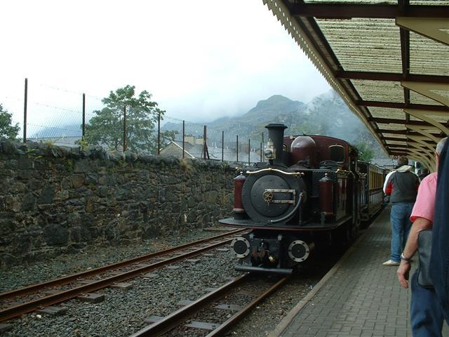 Train arriving at Blaenau Ffestiniog