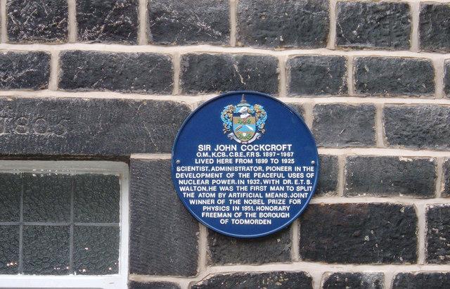 Sir John Cockcroft's Blue Plaque