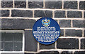 SD9321 : Sir John Cockcroft's Blue Plaque by michael ely