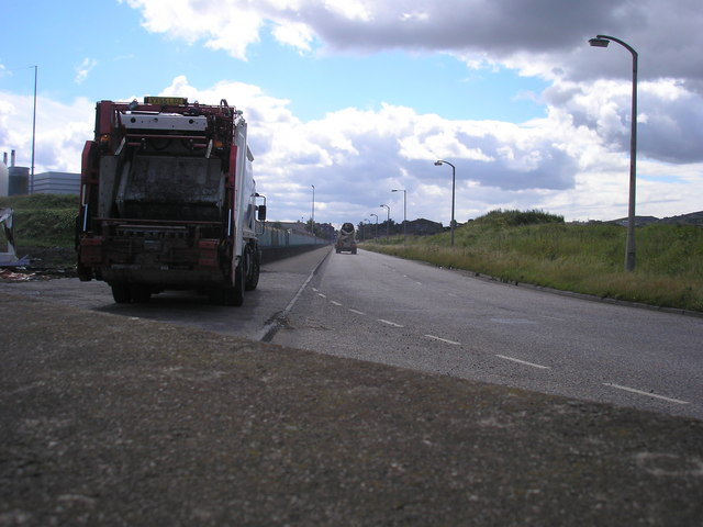 The Road in and out of Leith Docks