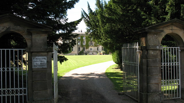 A glimpse of Marske Hall