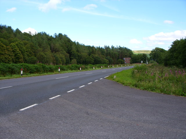 The A75 at Palnure