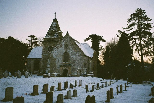 Horton: St. Wolfrida's in snow
