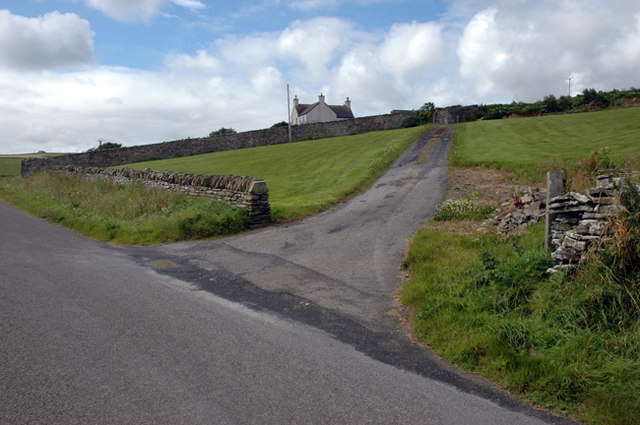 Approach road to Breck House, Rendall