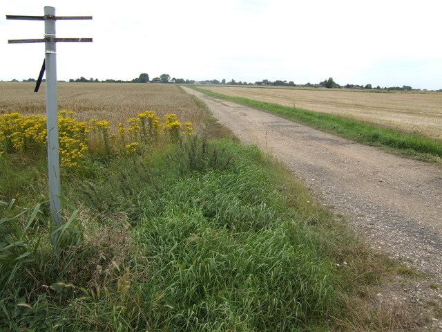 Road and footpath to Fenwick Farm