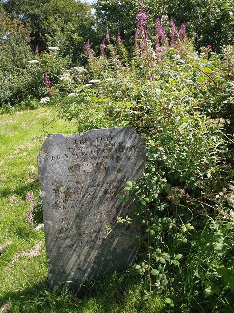 Gravestone at Cookbury