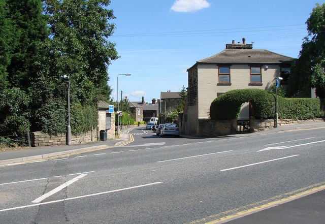 Bell Lane, Ackworth, seen from the car park of the Boot & Shoe Pub