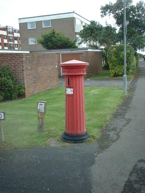 A rare Victorian Pillar Box in Milford on Sea
