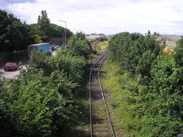 The Railway Line to Leith Docks