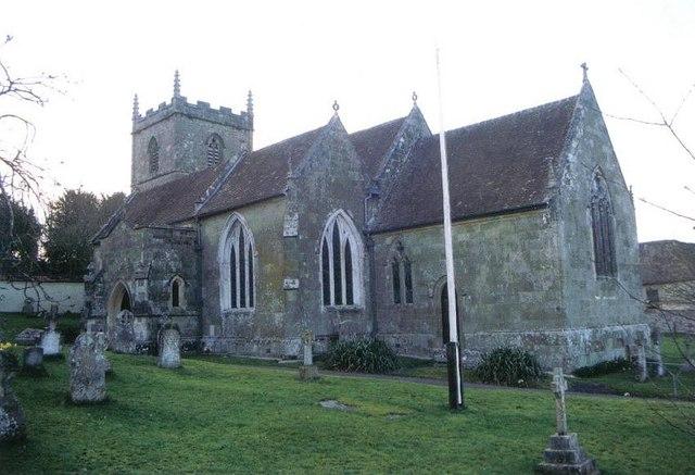 Iwerne Courtney or Shroton: parish church of St. Mary