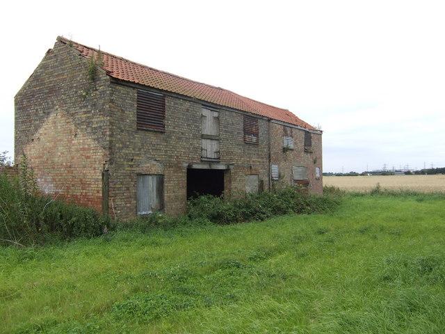 Old farm buildings on Walpole Marsh