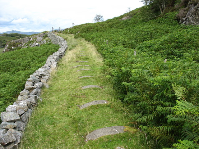 A section of the piped upper part of the Llennyrch leat/conduit