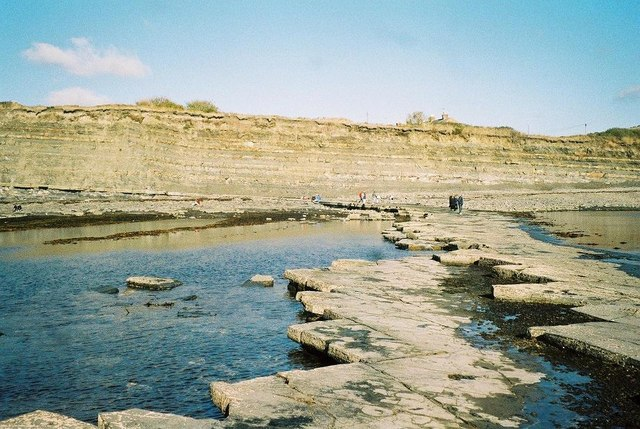 Kimmeridge: ledges in the bay