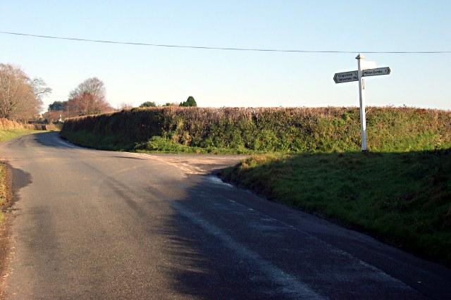 Road Junction between Milton Combe and Crapstone