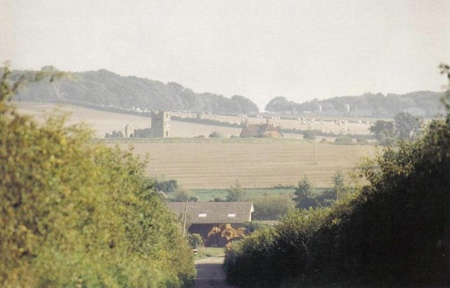 Knowlton: distant view from above Brockington