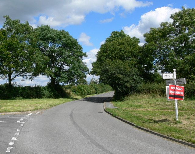 Lane junction near Stanton under Bardon