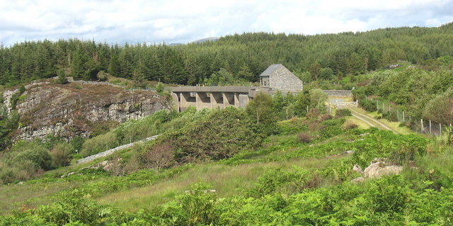 The Maentwrog Dam from the west