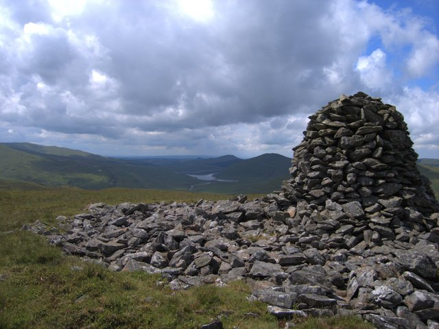 The southern cairn on Carn Hyddgen