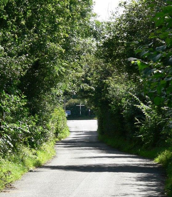 Lane junction south of Stanton under Bardon