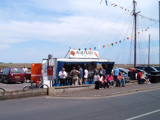 Fresh shellfish stall