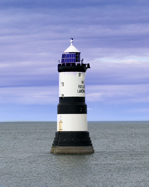 Close up of the lighthouse.