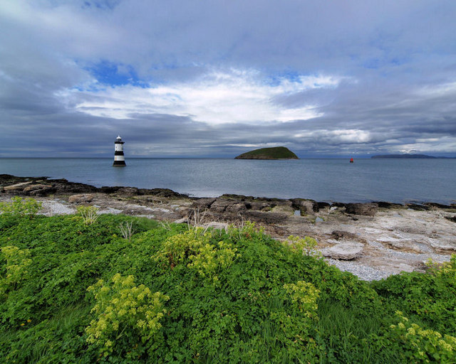 Lighthouse and Puffin Island.