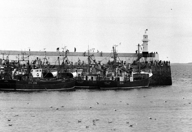 Herring boats at Peel, Isle of Man