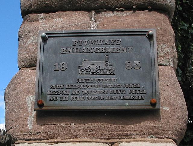 Commemorative plaque at Fiveways