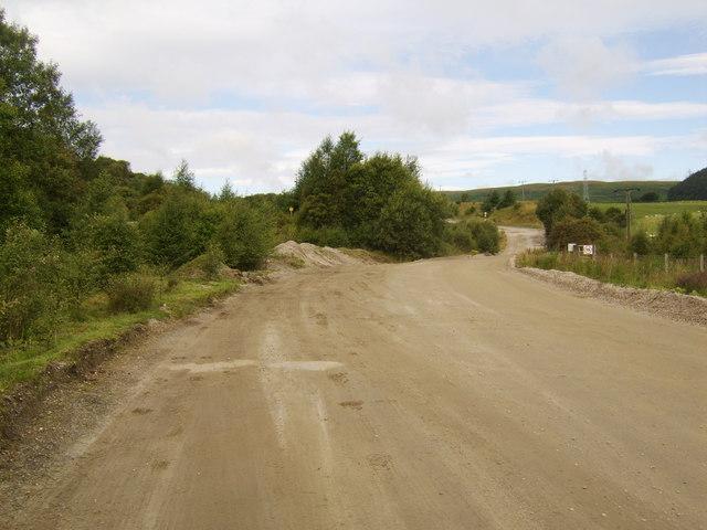 Access road to Douglas Muir Quarry