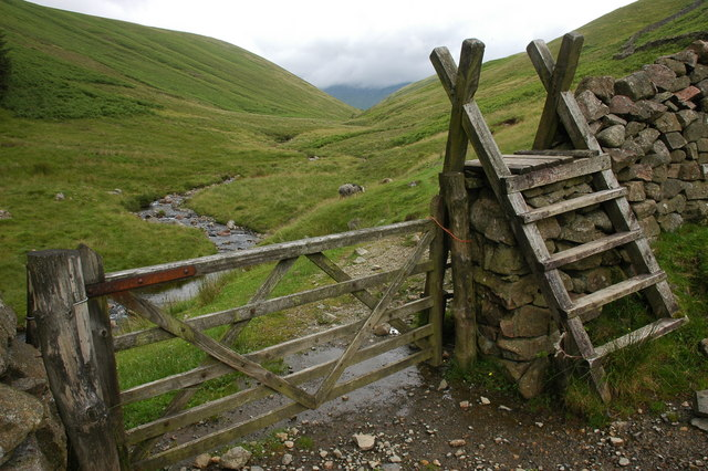 Ladder stile in Miterdale