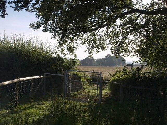 Bridleway round Stonequarry Farm