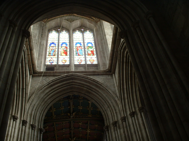 Stained Glass Window in Ludlow Church