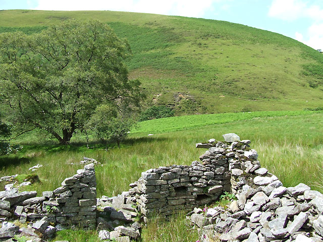 Ruins of Nant Iwan, near the Doethie Fach, Ceredigion