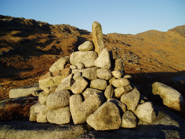 Cairn at the head of Nick of the Dungeon.