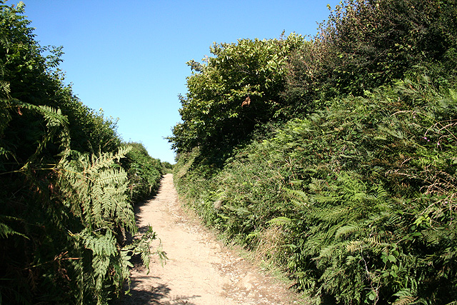 Marwood: bridleway near Kingsheanton