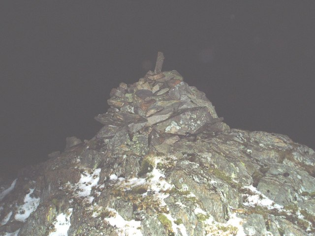 Millfore Cairn on a winter's night.