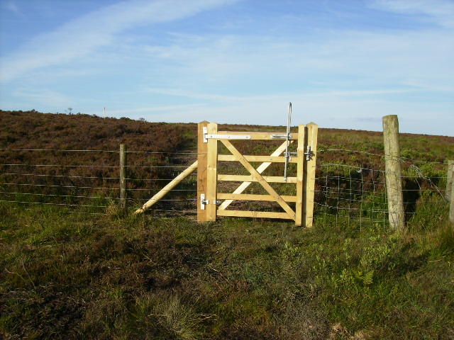 Gate on permissive bridleway at Fylingdales