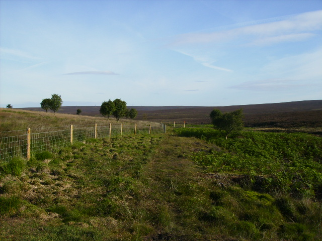The Permissive Bridleway near RAF Fylingdales