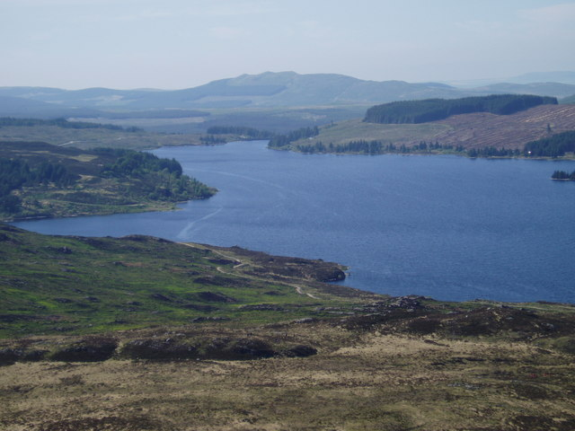 Looking NW across Loch Bradan.