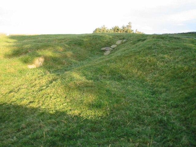 Mystery contours behind Bryn y Cyplau
