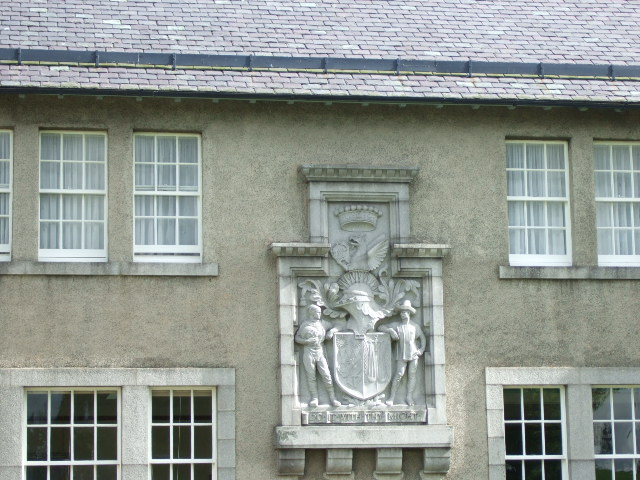 Dunecht Estate Office armorial plaque