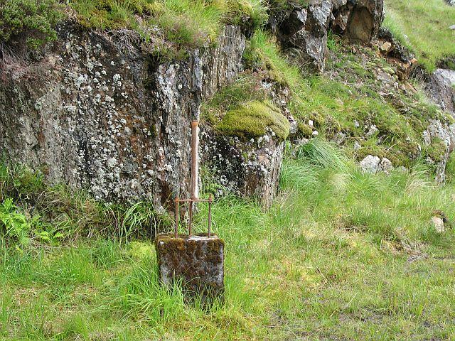 Survey pillar, North Cruadhach Dam