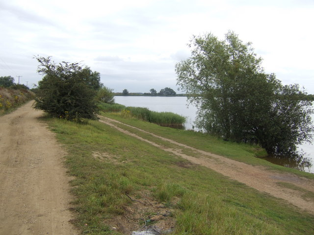 Langwood Fen; track and lake