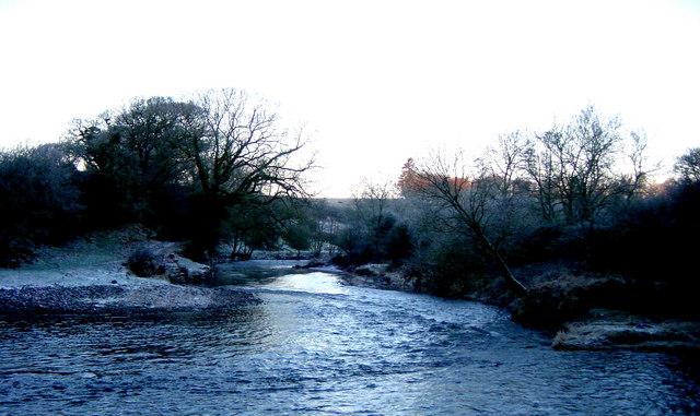 River Annan above Rabbit Island January 2003