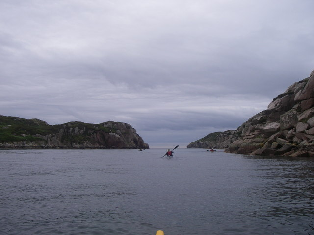 Four Kayakers entering Tinker's hole.