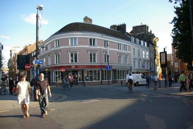 Shops at corner of Bridge Street and St John's Street